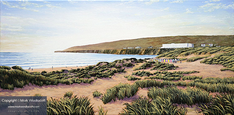 <i>A Beautiful Evening at Saunton Beach</i><span>AVAILABLE SOON at Echo Beach Gallery | Sale Price: &pound;795.00</span>