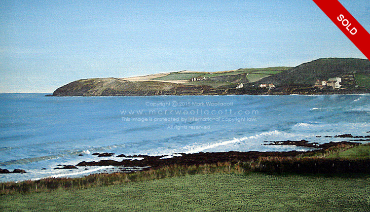 <i>A View of Croyde Bay and Baggy Point</i><span>SOLD at Medina Gallery</span>