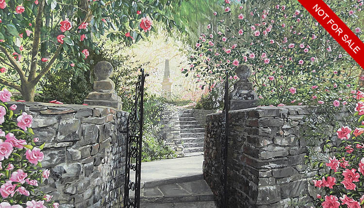 <i>Beyond the Flowering Camellias are the Steps to the Garden Obelisk</i><span>NO LONGER AVAILABLE</span>