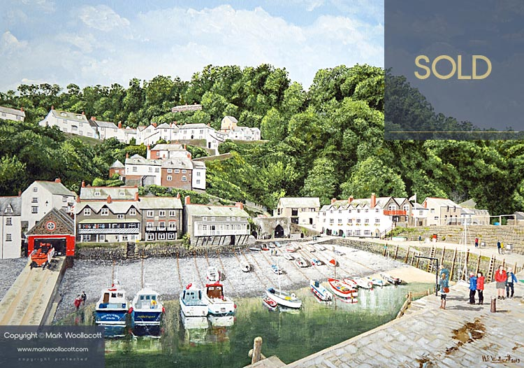 <i>Clovelly Harbour</i><span>SOLD at Medina Gallery</span>