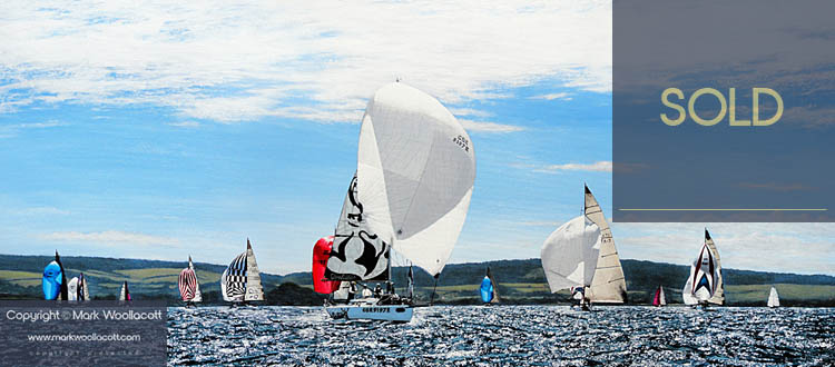 <i>Yacht Racing During Cowes Week, Isle of Wight, 2012</i><span>SOLD at Echo Beach Gallery</span>