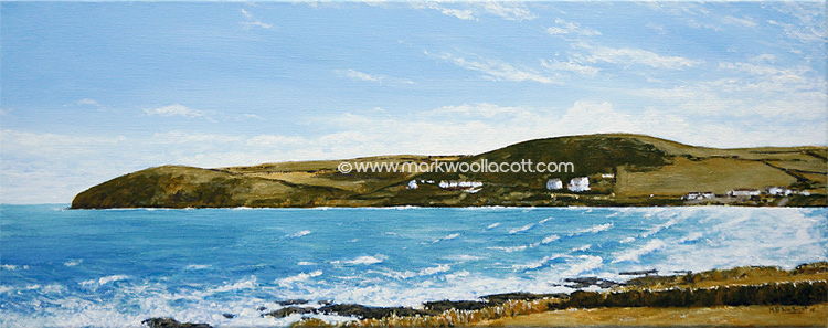 <i>Croyde Bay and Baggy Point I</i><span>AVAILABLE FOR SALE at Echo Beach Gallery, Ilfracombe</span>
