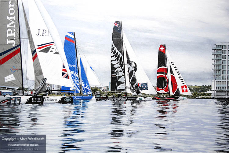 <i>Extreme Sailing Series, Cardiff, 2014</i><span>AVAILABLE FOR SALE at The Gallery at Ice, Windsor</span>