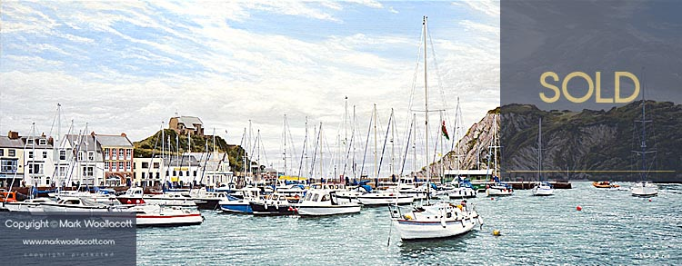 <i>High Tide, Ilfracombe Harbour</i><span>SOLD at Echo Beach Gallery</span>