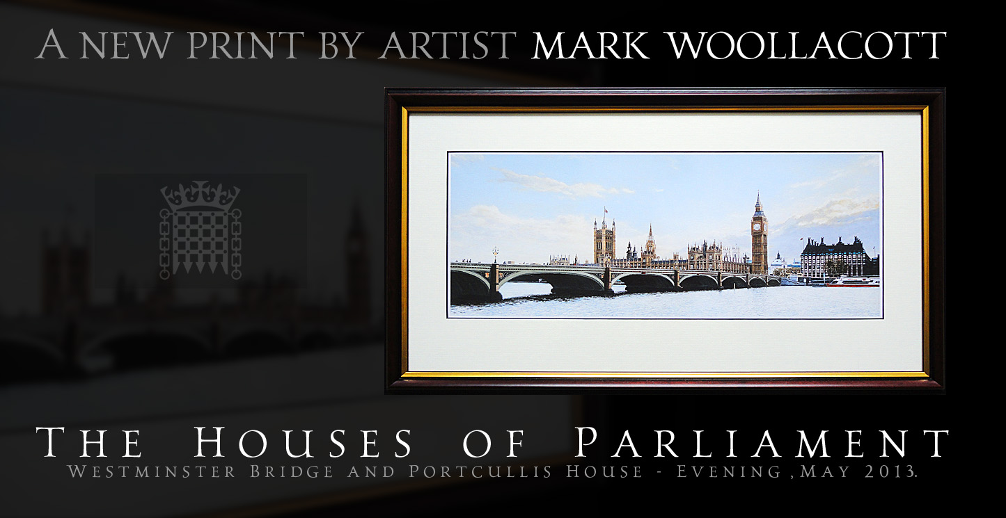 The Houses of Parliament, Westminster Bridge and Portcullis House — Evening, May 2013