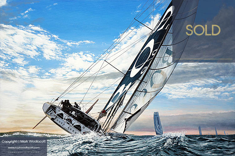 <i>Hugo Boss Open 60 Racing Monohull</i><span>AVAILABLE FOR SALE at Echo Beach Gallery</span>