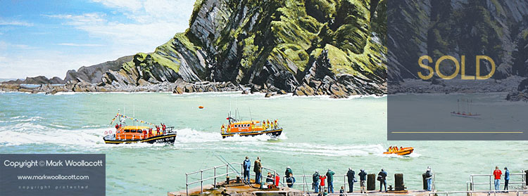 <i>Arrival of Ilfracombe's New Shannon Class Lifeboat</i><span>SOLD at Echo Beach Gallery</span>