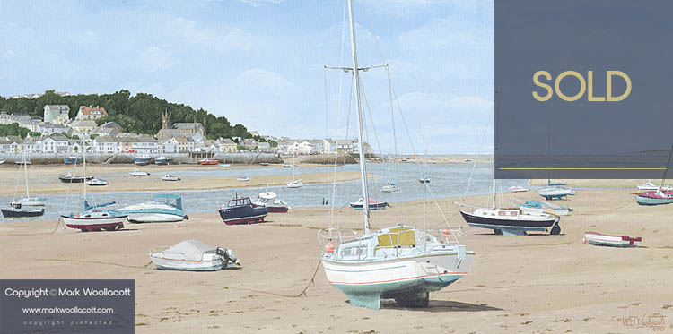 <i>Low Water at Instow, Devon</i><span>SOLD at Gallery at 500 Feet | Sale Price: &pound;350.00</span>