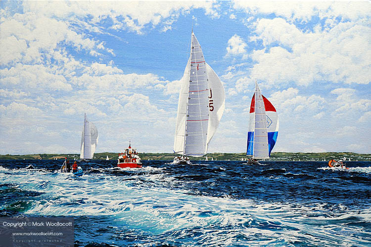 <i>J Class Yachts</i><span>acrylic on canvas | Size: 20 x 30 inches</span>