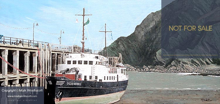 <i>The Oldenburg at Ilfracombe Harbour, at Low Tide - No. 2</i><span>NOT FOR SALE</span>