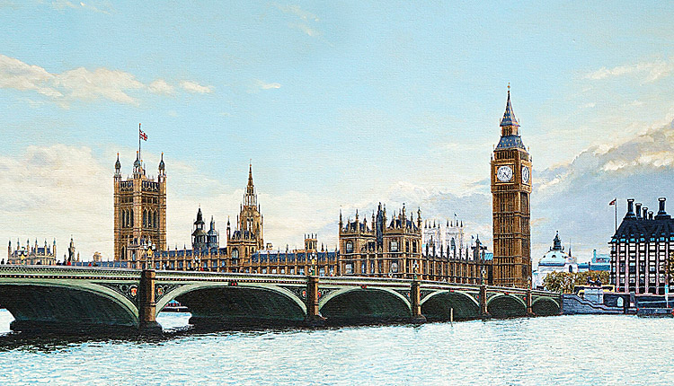 <i>The Houses of Parliament</i><span>AVAILABLE FOR SALE at redgallery.co.uk | Price: &pound;3,300.00</span>