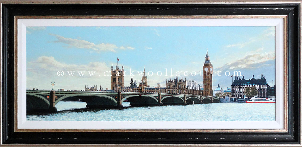 The Houses of Parliament, Westminster Bridge and Portcullis House - Evening, May 2013