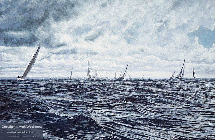 <i>Round The Island Race, Isle of Wight, 2012</i><span>AVAILABLE FOR SALE at Echo Beach Gallery, Ilfracombe</span>