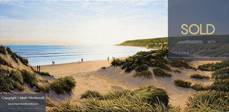 <i>Saunton</i><span>acrylic on canvas | Framed | Size: 12 x 24 inches</span>