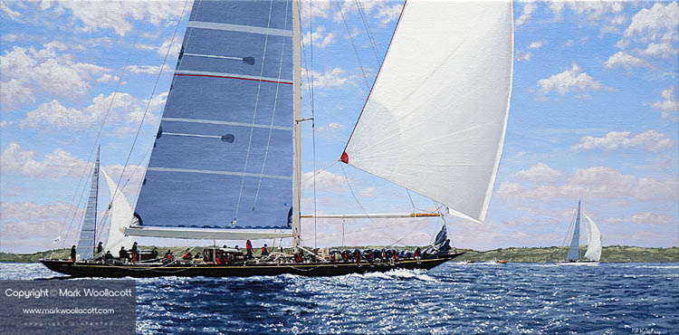 <i>The J Class Racing at Falmouth, 2015</i><span>acrylic on canvas | Size: 12 x 24 inches</span>