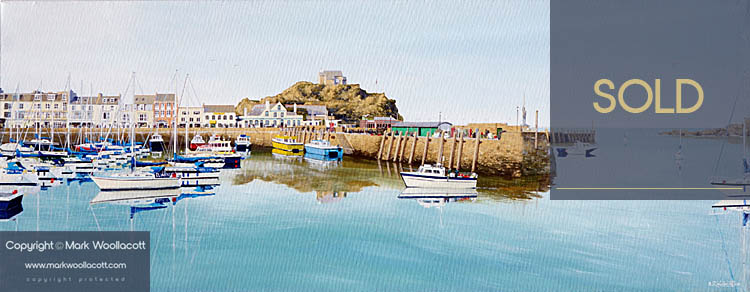 <i>Tranquil Evening at Ilfracombe Harbour</i><span>AVAILABLE FOR SALE at Echo Beach Gallery</span>