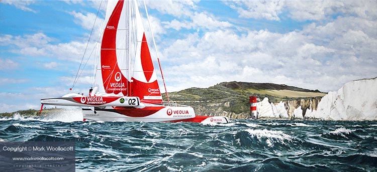 <i>Veolia Environnement Trimaran, Rolex Fastnet Race, 2011</i><span>AVAILABLE FOR SALE at The Soden Collection, Shrewsbury</span>