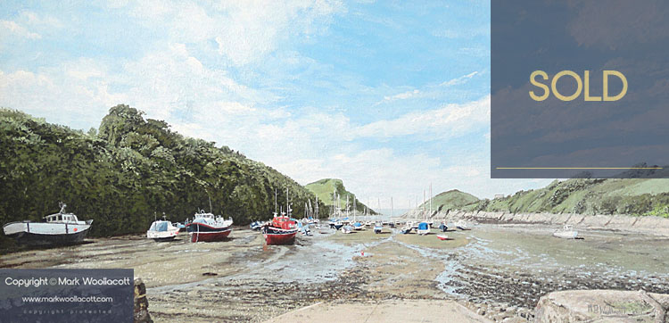 <i>Watermouth Cove, at Low Tide</i><span>SOLD at The Burton Art Gallery</span>