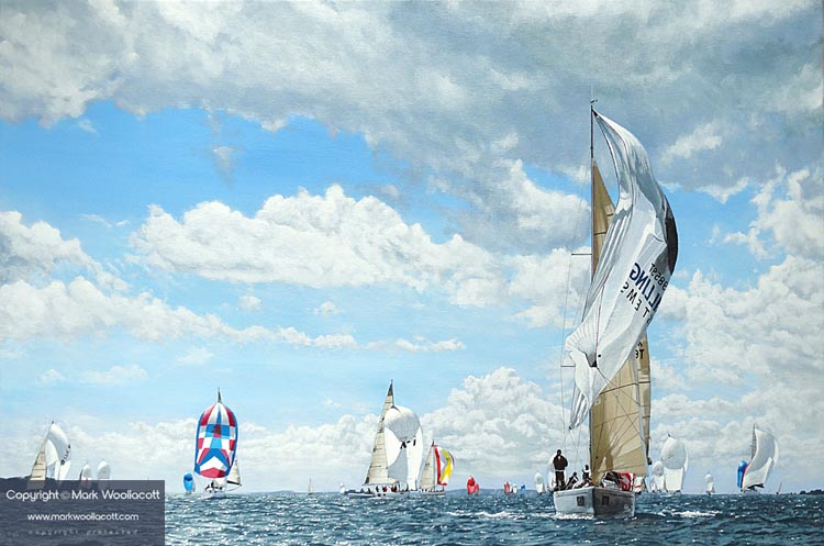 <i>Yachts Racing at Cowes Week, Isle of Wight, 2010</i><span>AVAILABLE FOR SALE</span>